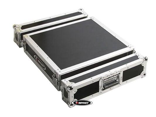2RU Pro Amp Rack Flight Case