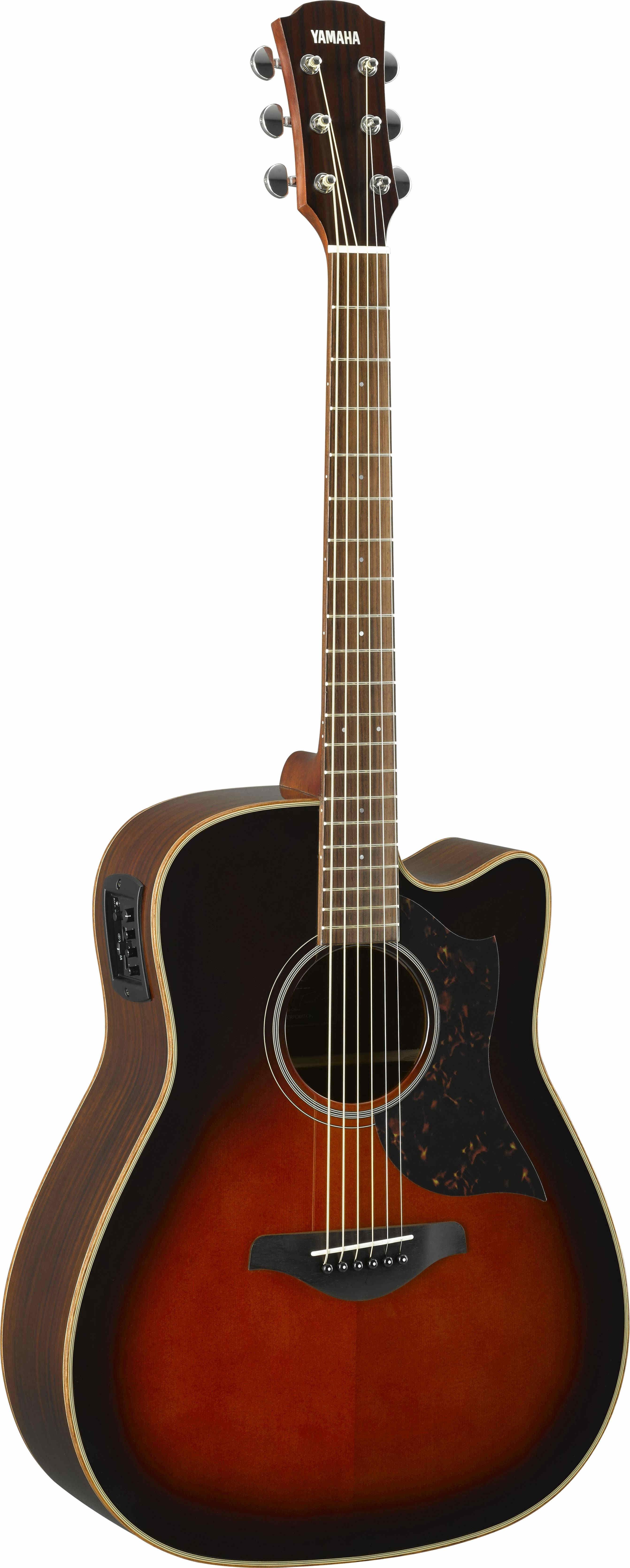 Tobacco Brown Sunburst Cutaway Folk Guitar