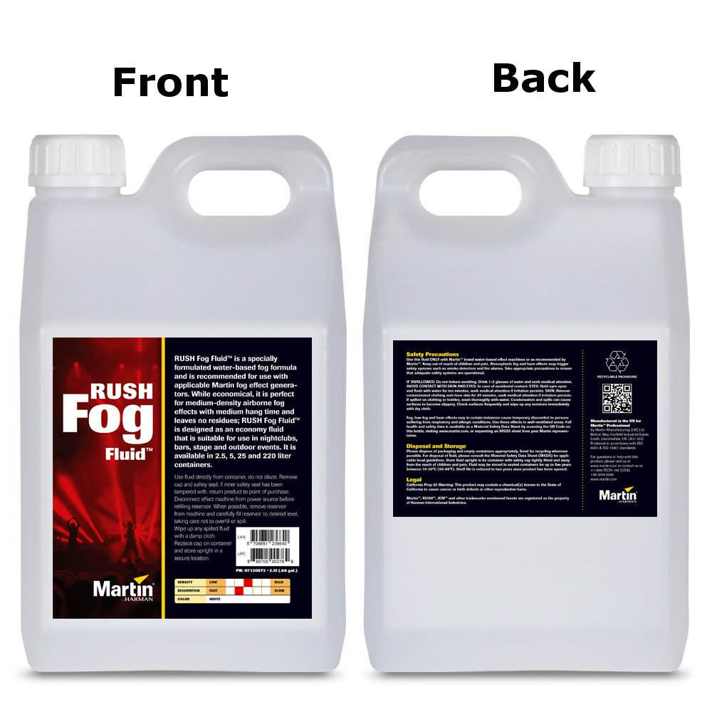 Martin Professional RUSH-FOG-FLUID-2.5L  2.5 Liter RUSH Fog Fluid RUSH-FOG-FLUID-2.5L