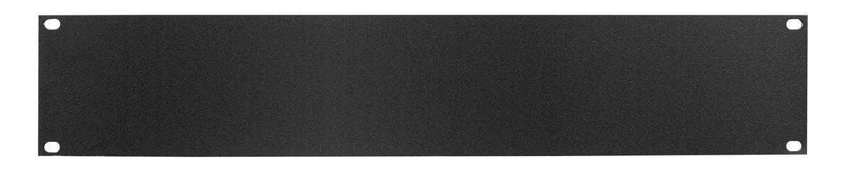 1RU Steel Rack Panel, Black