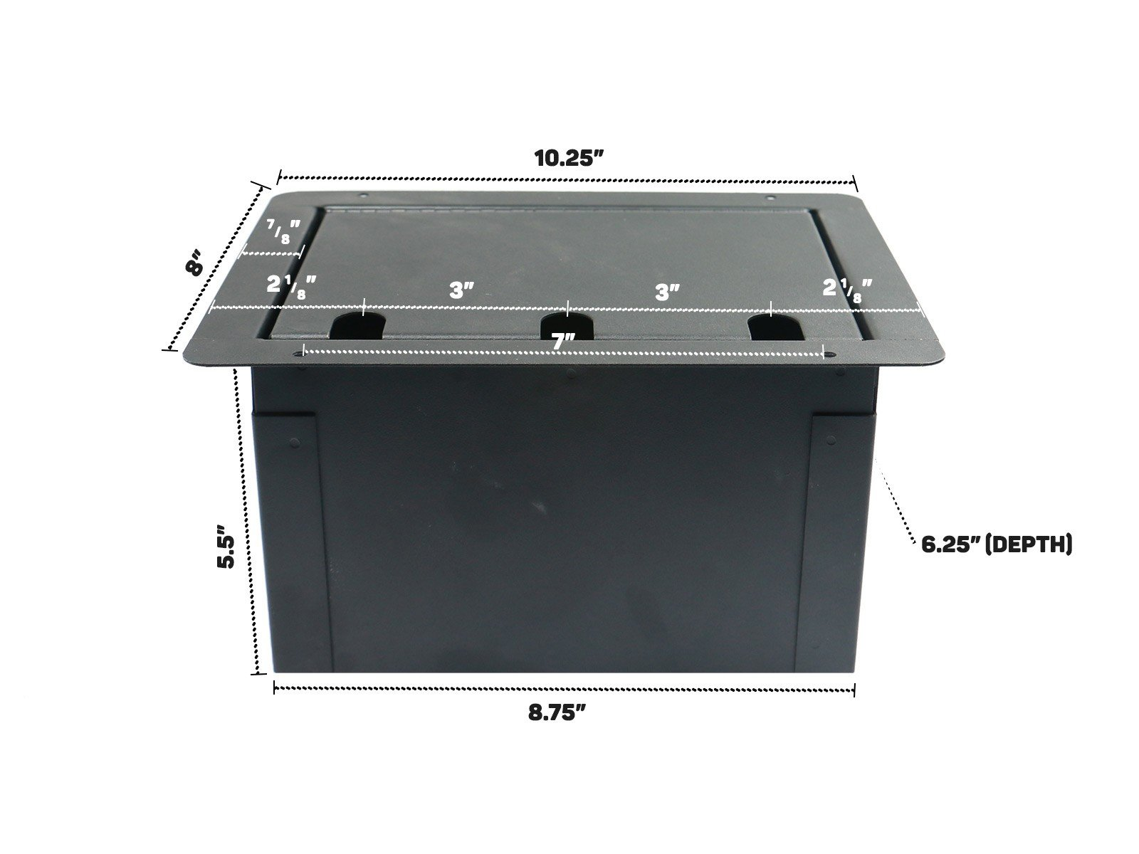 Recessed Floor Box With 8 XLRF + Duplex AC with Back Box