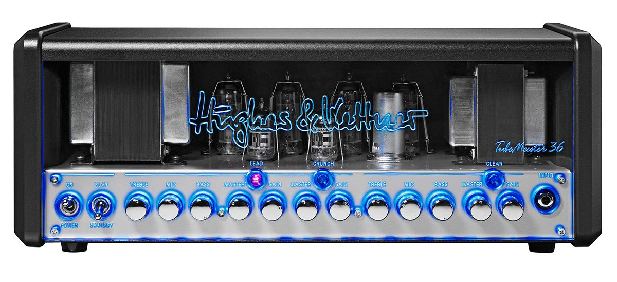 36W 3-Channel Tube Guitar Amplifier Head with Onboard Red Box Output