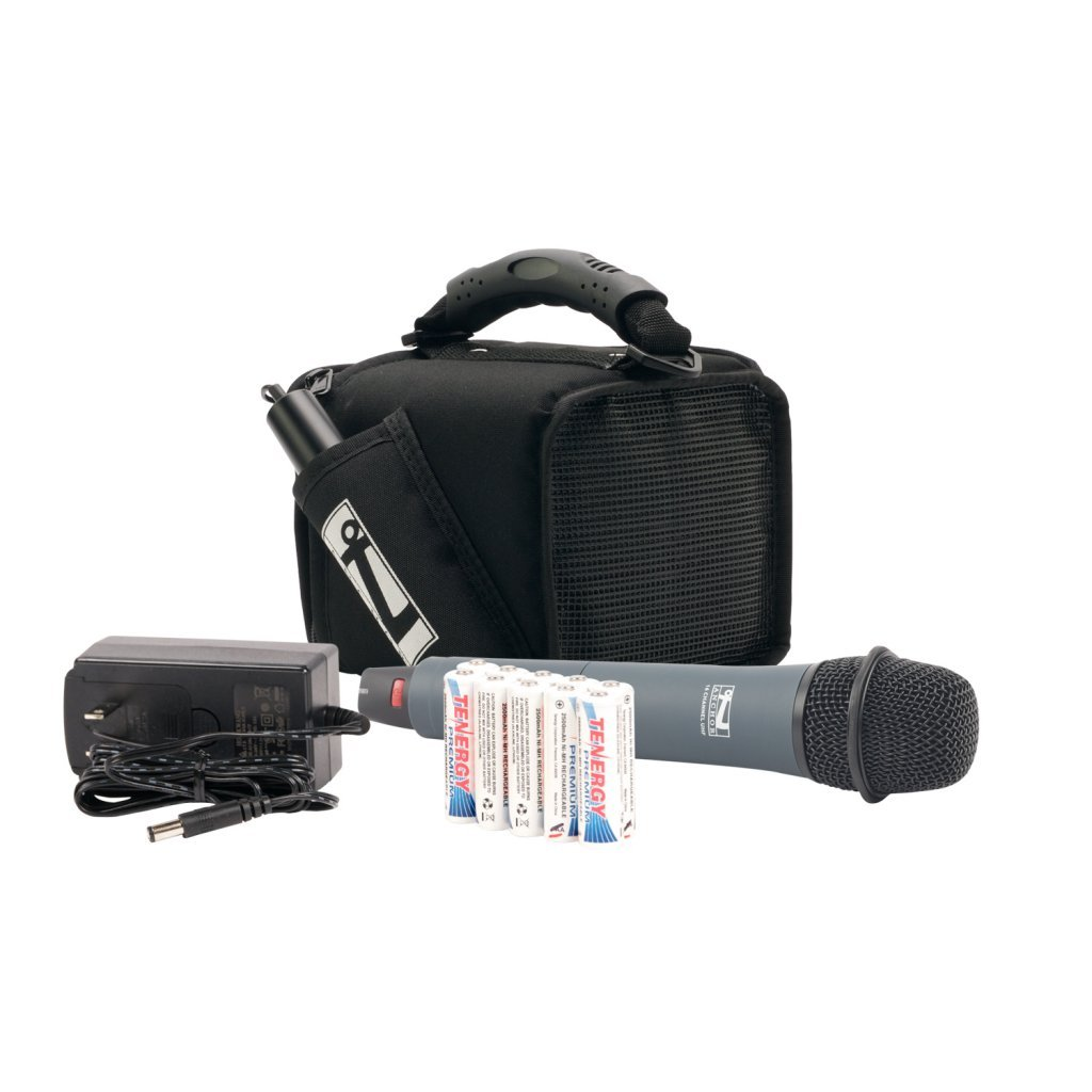 MiniVox Lite Deluxe Package with Built-In Wireless Receiver, Choice of Wireless Transmitter and Black Carrying Case