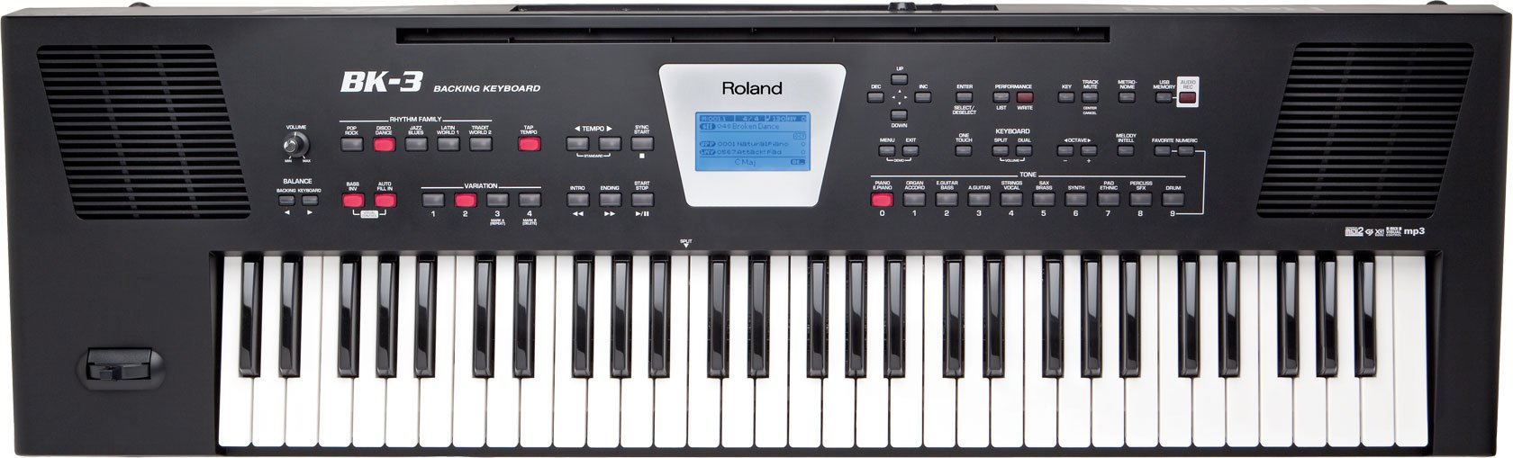 61-Key Backing Keyboard in Black