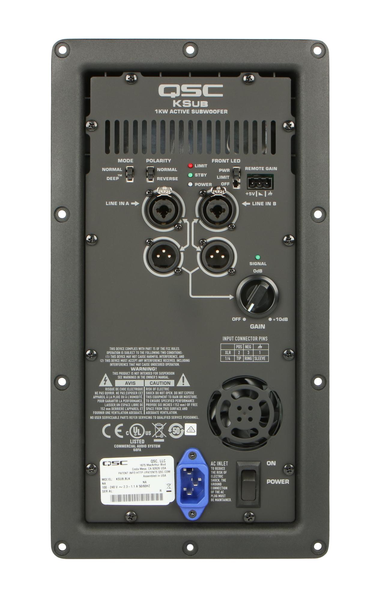 qsc wp 003310 00 ksub amp assembly full compass systems. Black Bedroom Furniture Sets. Home Design Ideas