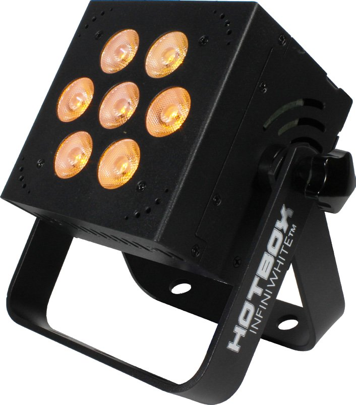 7x 5W, 3-in-1 ACW Professional LED PAR Fixture in Black