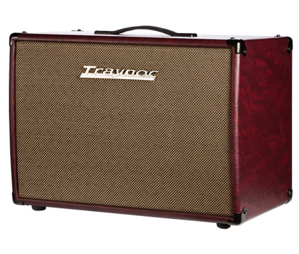 "Guitar Extension Cabinet, 1 x 12"" Celestion Vintage 30, 60 Watts, Wine Red Leatherette Covering and Oatmeal Grille"