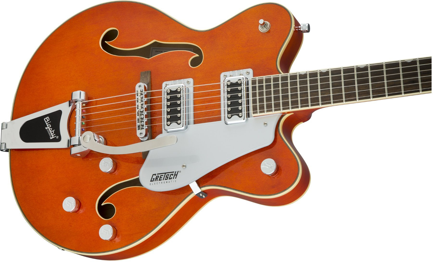 Hollow Body Double-Cut with Bigsby, Orange Stain Finish