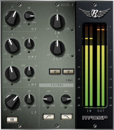 4-Band Retro EQ Plugin, AAX Native/AU/VST Version [DOWNLOAD]
