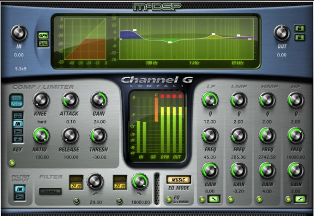 McDSP Channel G Compact Native [EDU STUDENT/FACULTY] Multi-Function Channel Strip Plugin, AAX Native/AU/VST Version [DOWNLOAD] CH-G-COMP-NAT-EDU