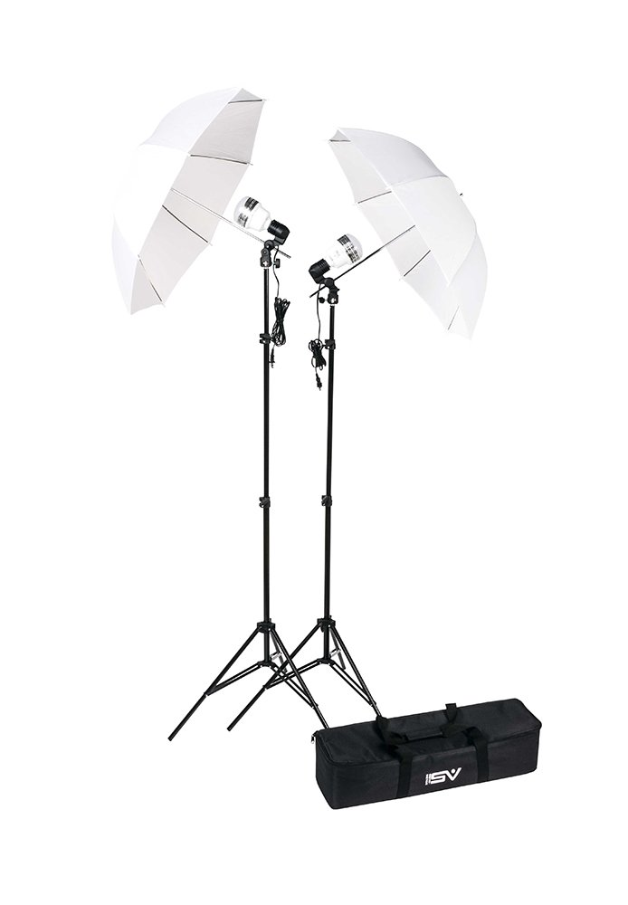 LED 750 Watt 2 Light Umbrella Kit