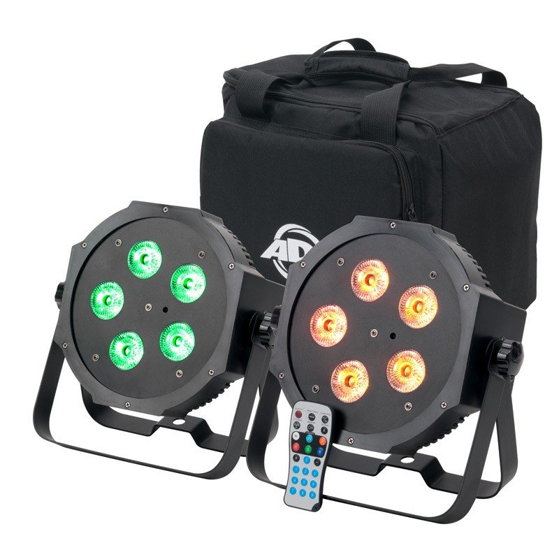2x Mega Par 64 Hex with Bag and IR Remote