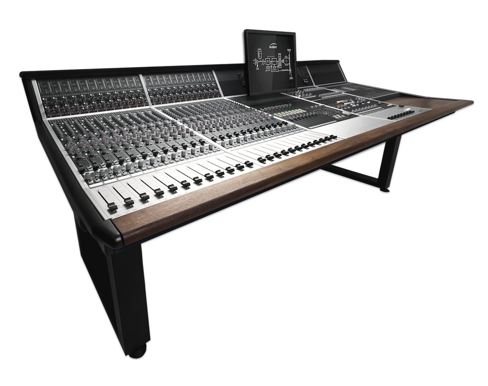 24-Channel Console with Dual Layer Control Module and Patch Bay