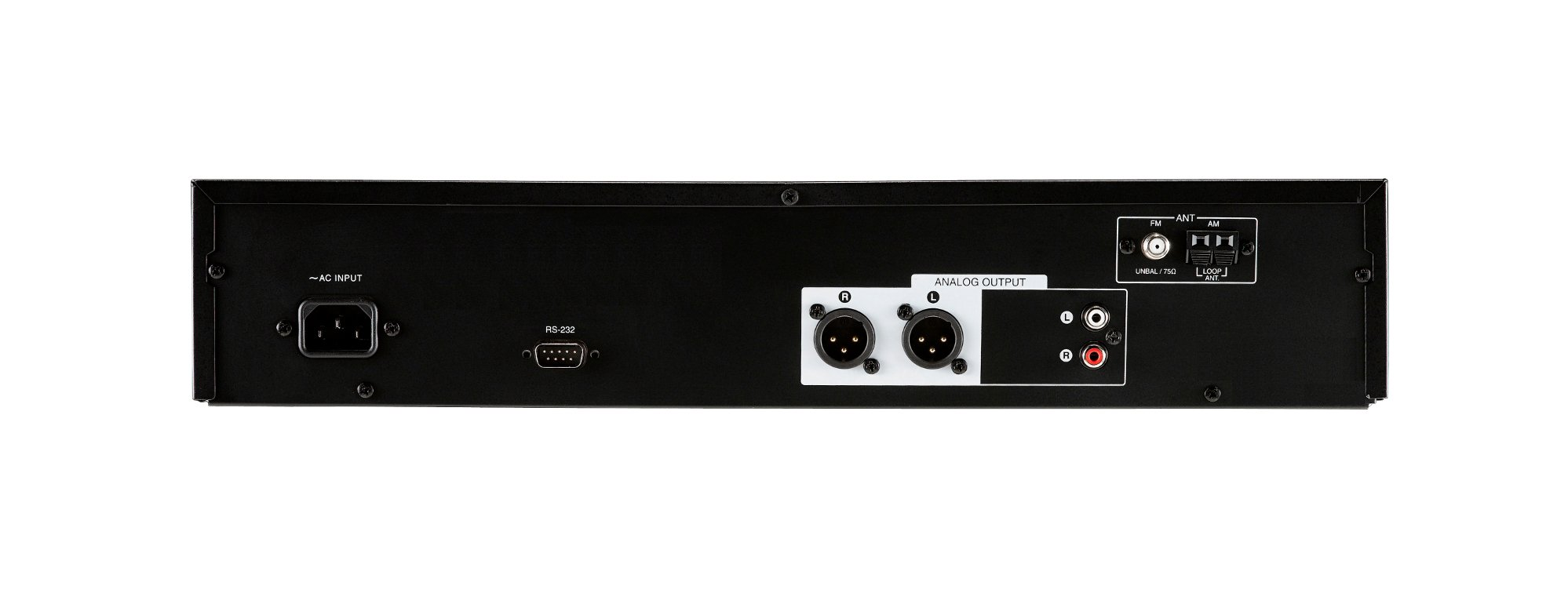FM/AM Tuner with 40 Station Memories, RS-232 Protocol