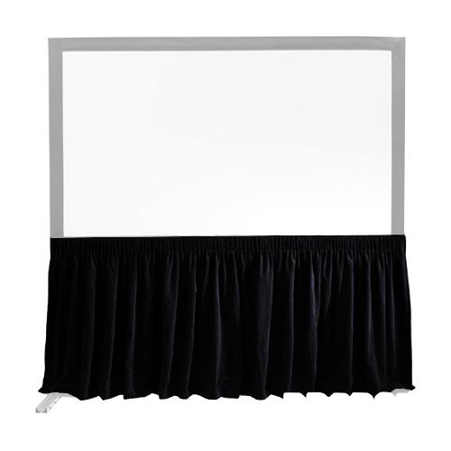 """Velour, 105""""x168"""" FocalPoint Dress Kit Skirt - 16:10, Black"""
