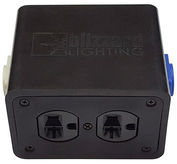 Blizzard Lighting Drop-PC PowerCON Compatible In/Out to Quad Edison Stage Drop Box DROP-PC