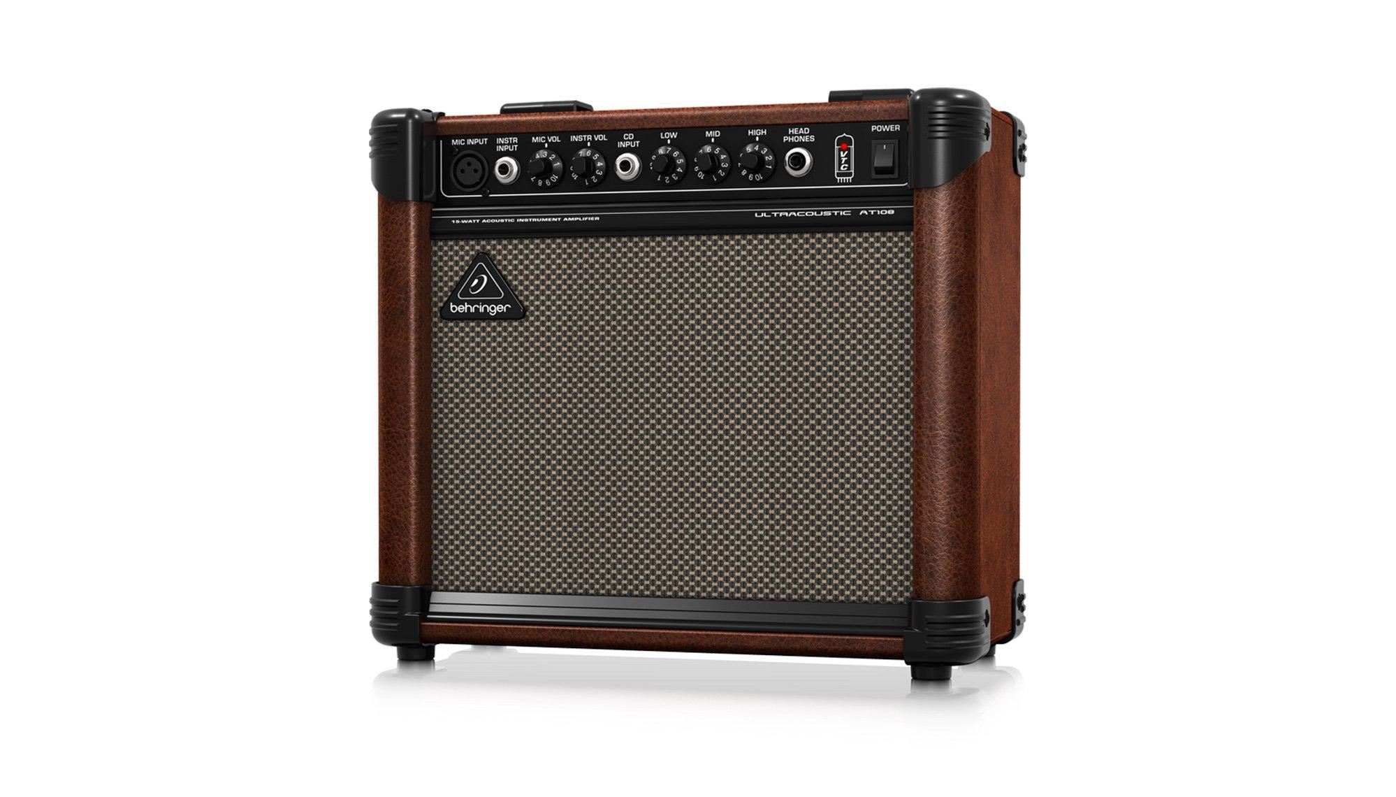 """2-Ch 15W 1x8"""" Acoustic Guitar Amplifier"""