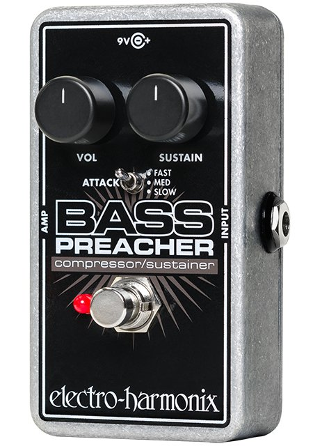 Electro-Harmonix Bass Preacher Compressor/Sustainer Effect Pedal for Bass BASS-PREACHER
