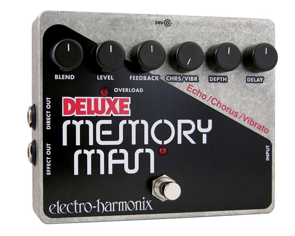 Electro-Harmonix DELUXE MEMORY MAN Analog Delay/Chorus/Vibrato Pedal, PSU Included DELUXEMEMORYMAN