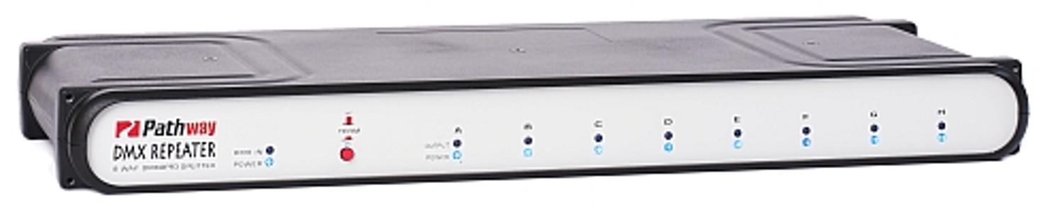 Front 5-pin XLR 8-way DMX Repeater