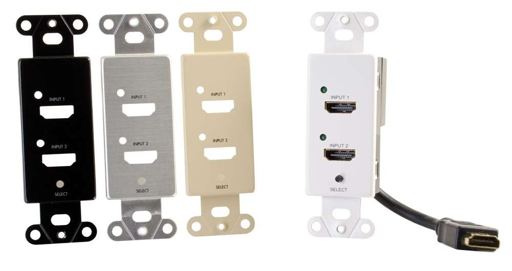 Decorative Wall Plate with 3 HDMI Female Connectors