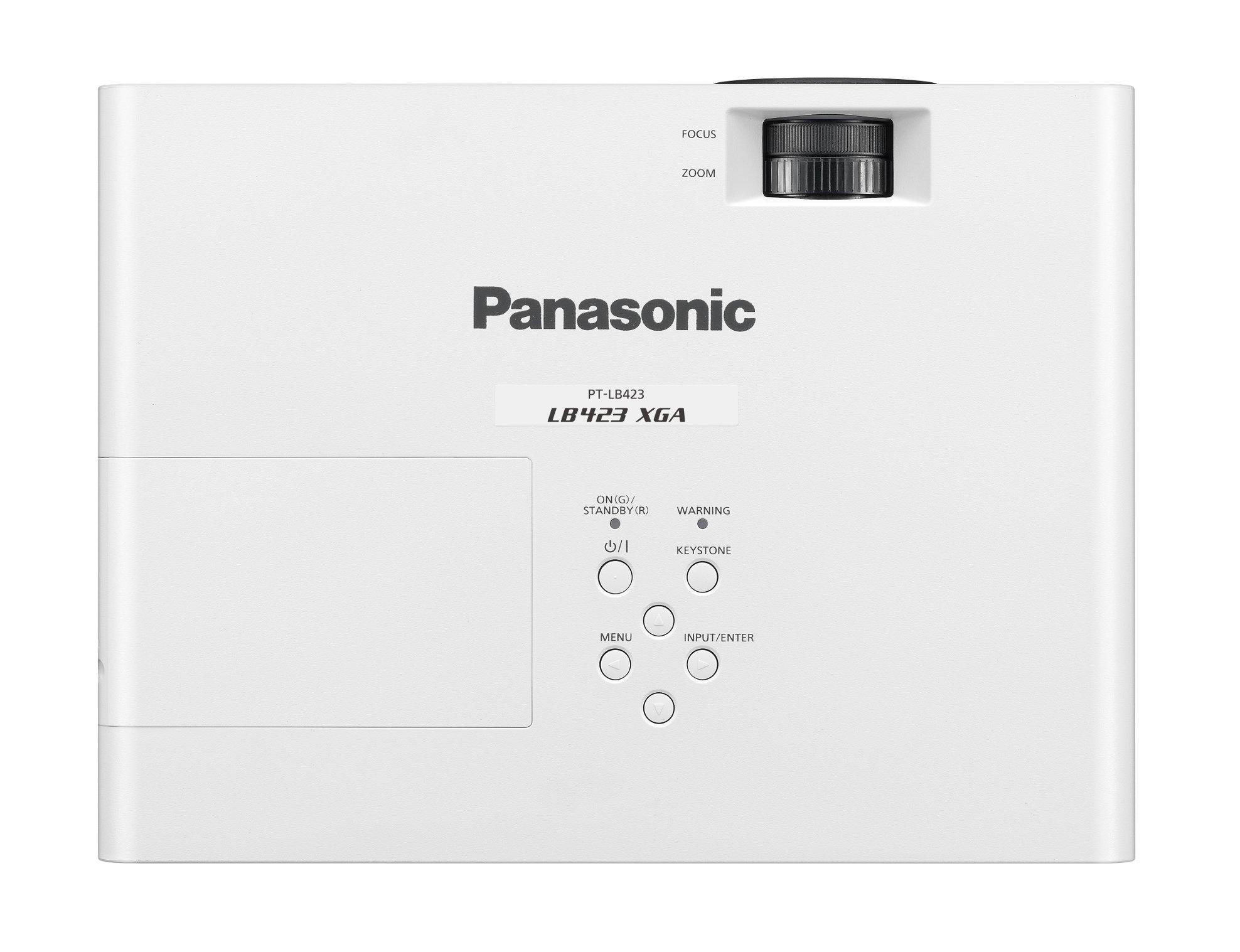 4100 Lumen XGA LCD Portable Projector in White