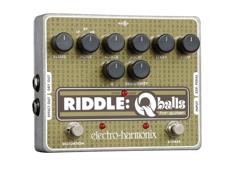 Riddle: Qballs Envelope Filter Pedal for Guitar, PSU Included