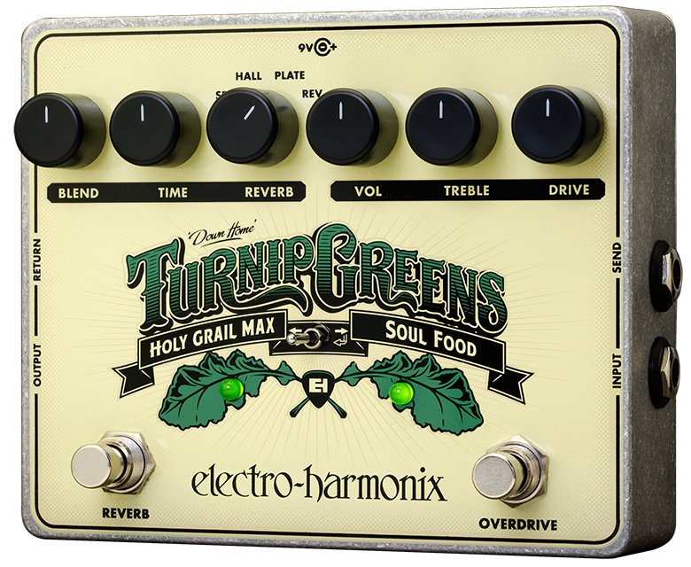 Soul Food Overdrive/Distortion and Holy Grail Reverb Effects Pedal