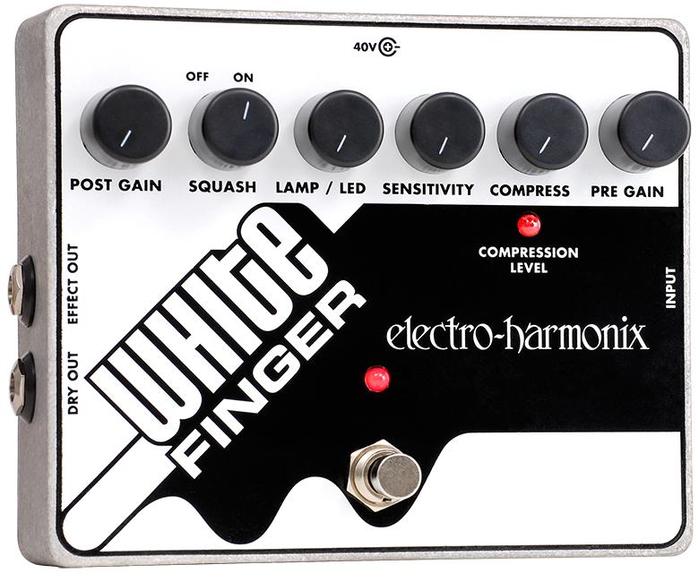 Electro-Harmonix WHITE FINGER Analog Optical Compressor, PSU Included WHITEFINGER
