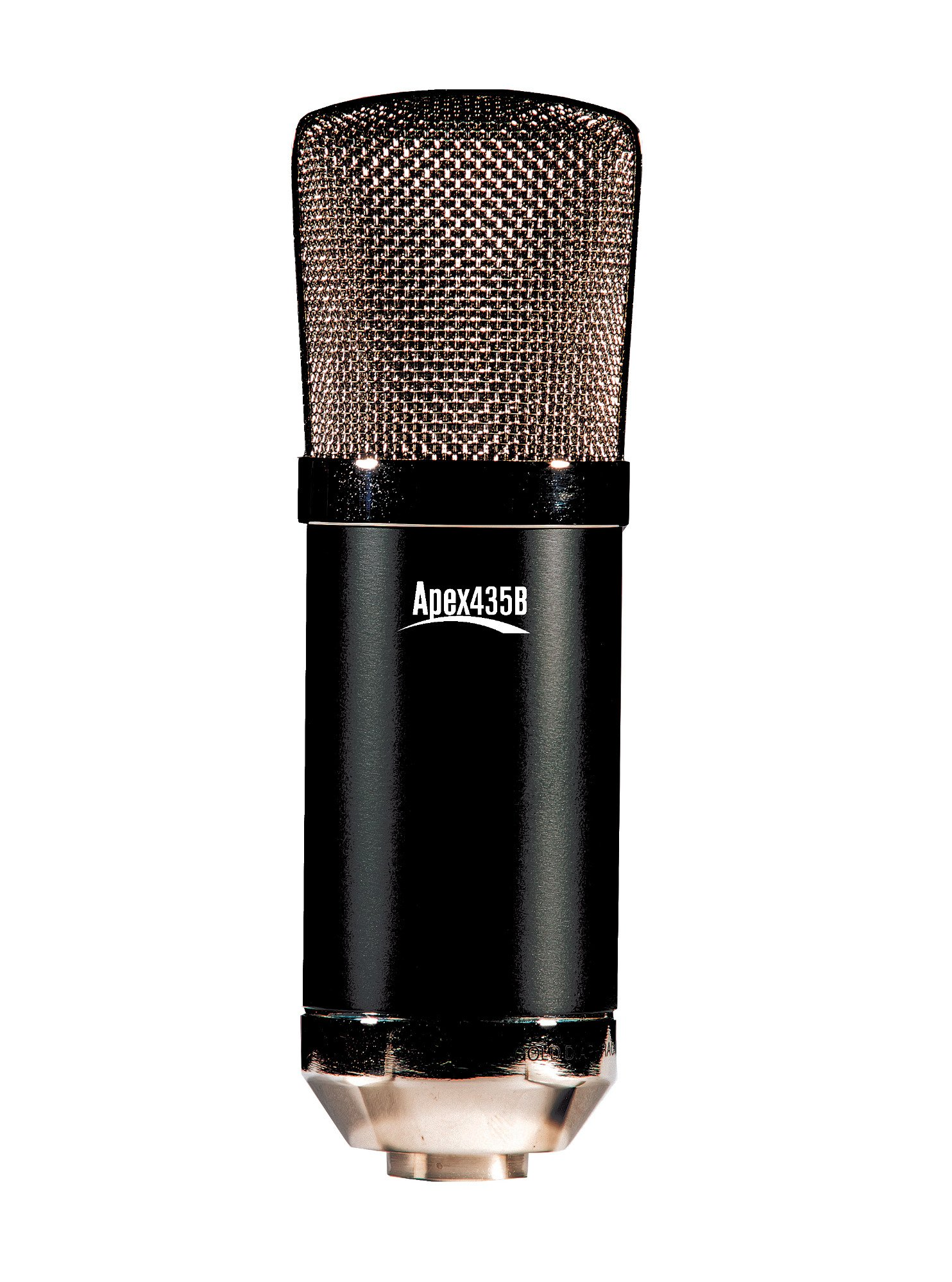 Apex Electronics Apex435B Wide Diaphragm Condensor Side Address Cardioid Microphone with Shockmount APEX435B