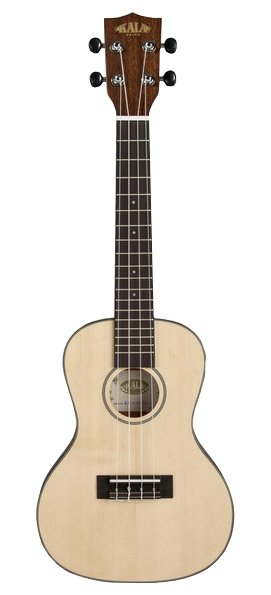 Solid Spruce Travel Concert Ukulele with Gig Bag
