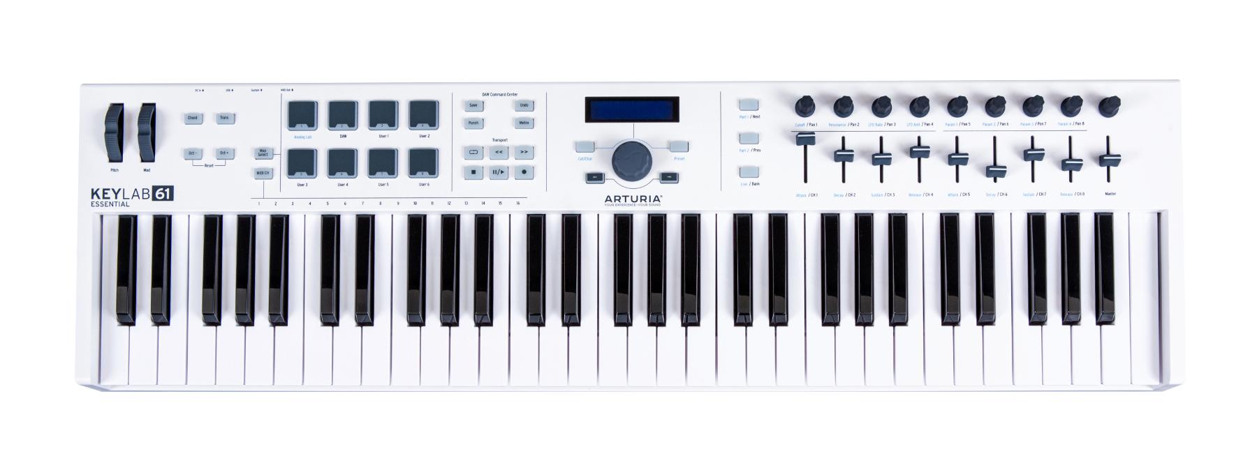 Arturia KeyLab Essential 61 61-key Universal MIDI Controller with Software KEYLAB-61-ESSENTIAL