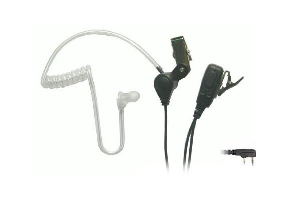 Eartec Co SSTKW3300LP  SST Headset Kenwood 2-Pin Plug Lapel Microphone with PTT SSTKW3300LP