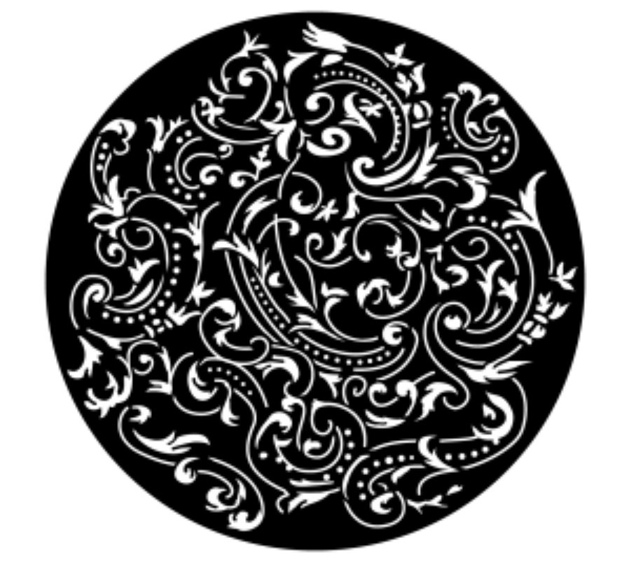 Almost Paisley Steel Gobo
