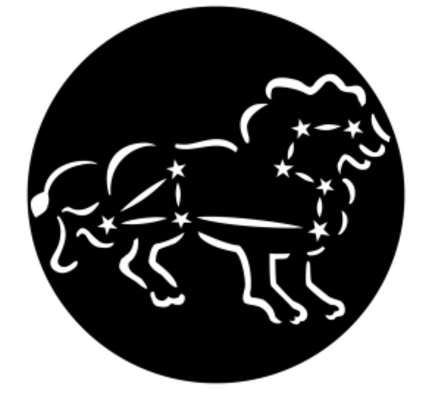 Constellations Leo the Lion Steel Gobo