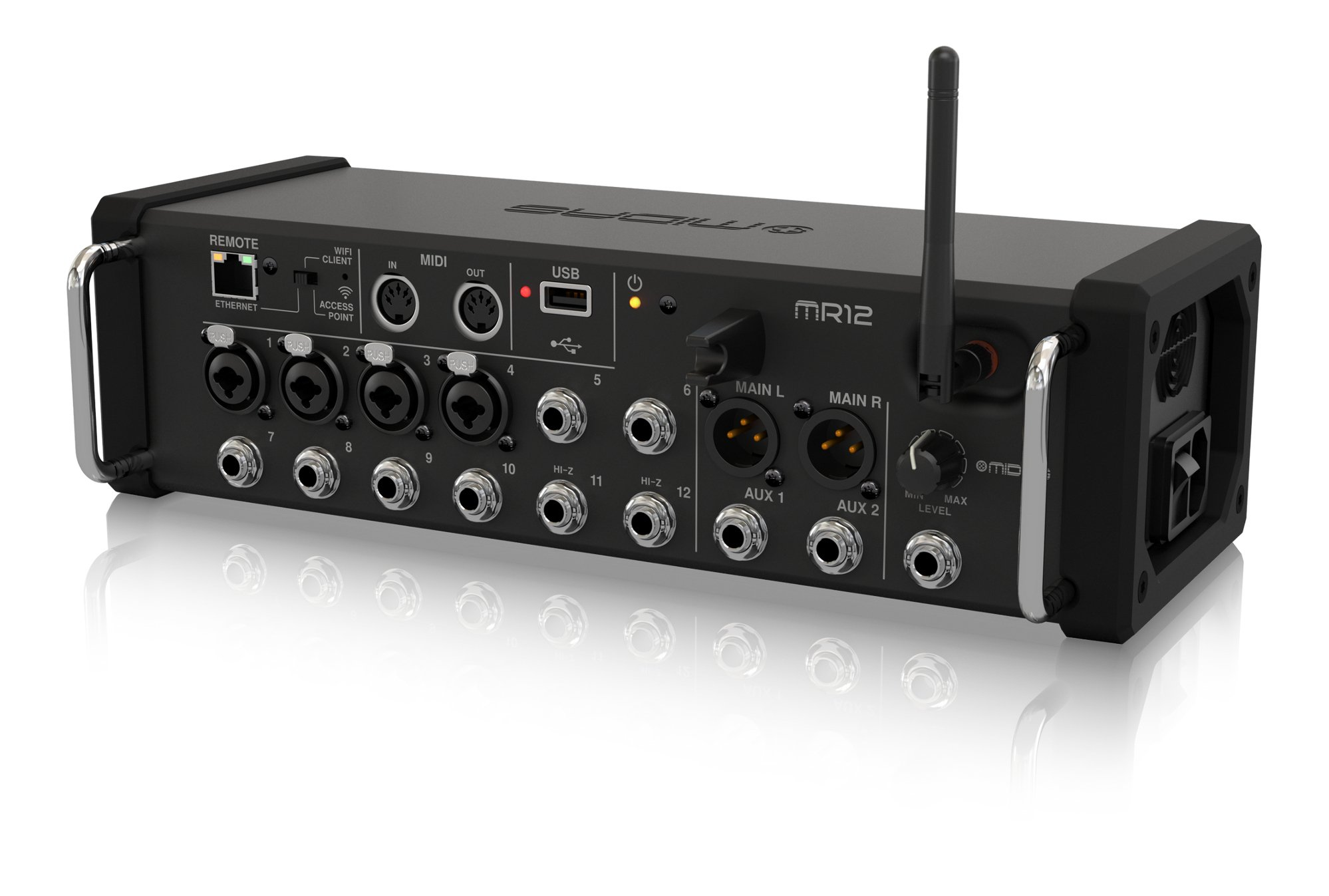 12-Input App-Controlled Digital Mixer with Integrated Effects, WiFi Module, and USB