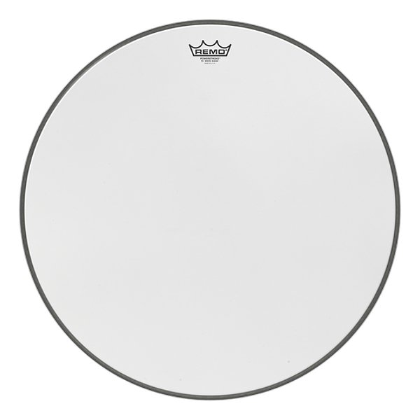 """22"""" Powerstroke P3 White Suede Bass Drumhead"""