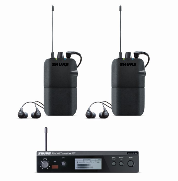 Microphone Kit with (1) P3TR11GR System, (1) P3R Body Pack Receiver and (1) Pair of SE112 Earphones