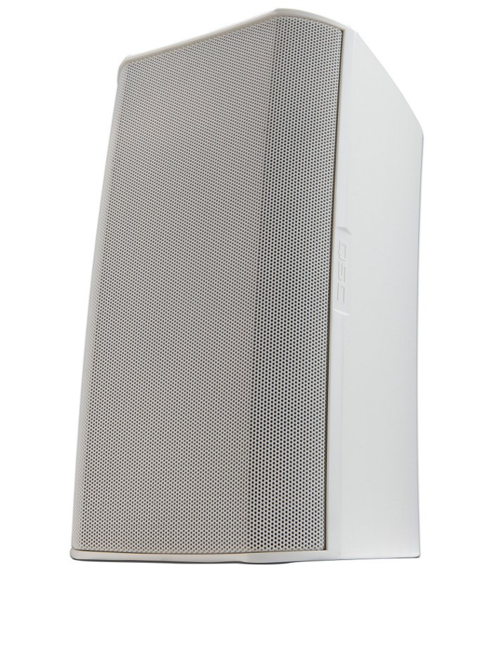 """AcousticDesign 8"""" Two-Way Speaker for 70/100V Distributed Audio Lines with M10 Install Points in White"""