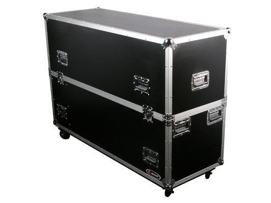 "Flight Zone Series Dual 50"" Flat Screen Monitor Case with Wheels"