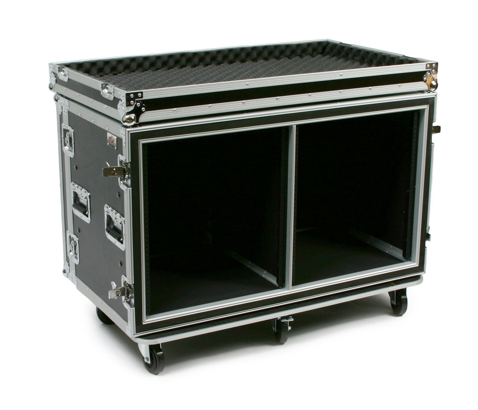 24 Space ATA Side by Side Amp Rack
