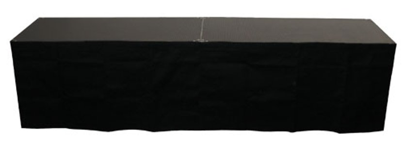 "8"" x 48"" Black Stage Skirt"