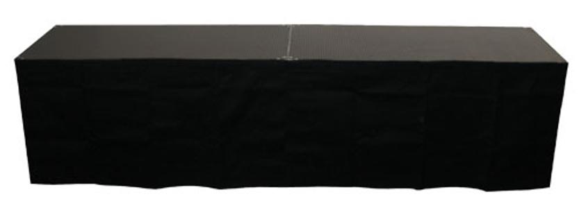 "Show Solutions Inc DD-SKIRT4816 16"" x 48"" Black Stage Skirt DD-SKIRT4816"