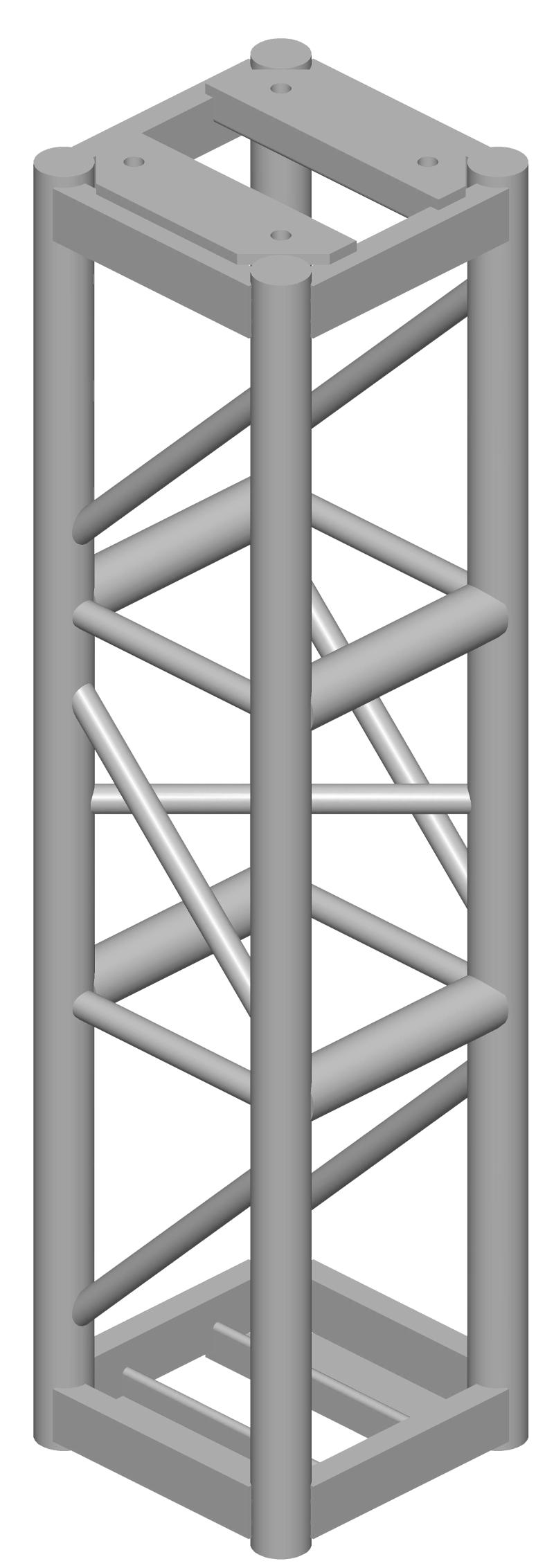 12x12 Square Truss,  4 ft Long