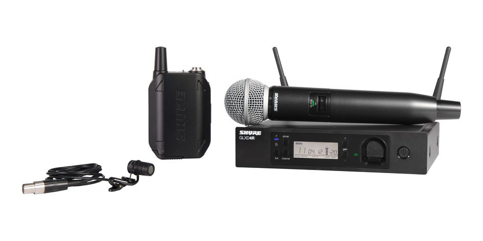Handheld and Lavalier Combo Wireless System