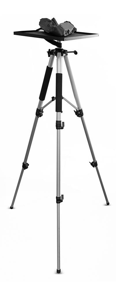 Adjustable Video Projector Tripod Stand with Swivel/Rotating Plate
