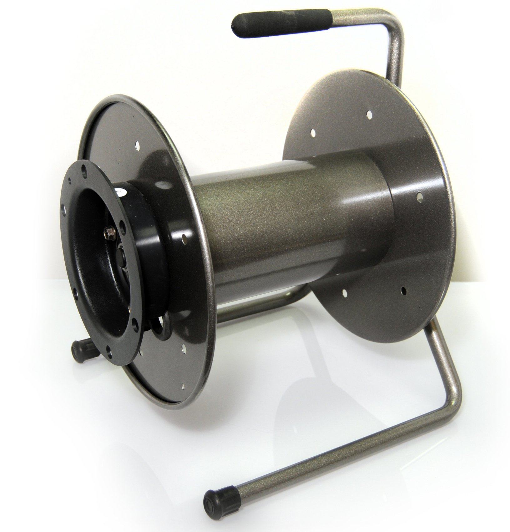 Grey Metal Cable Reel with Integral Handles