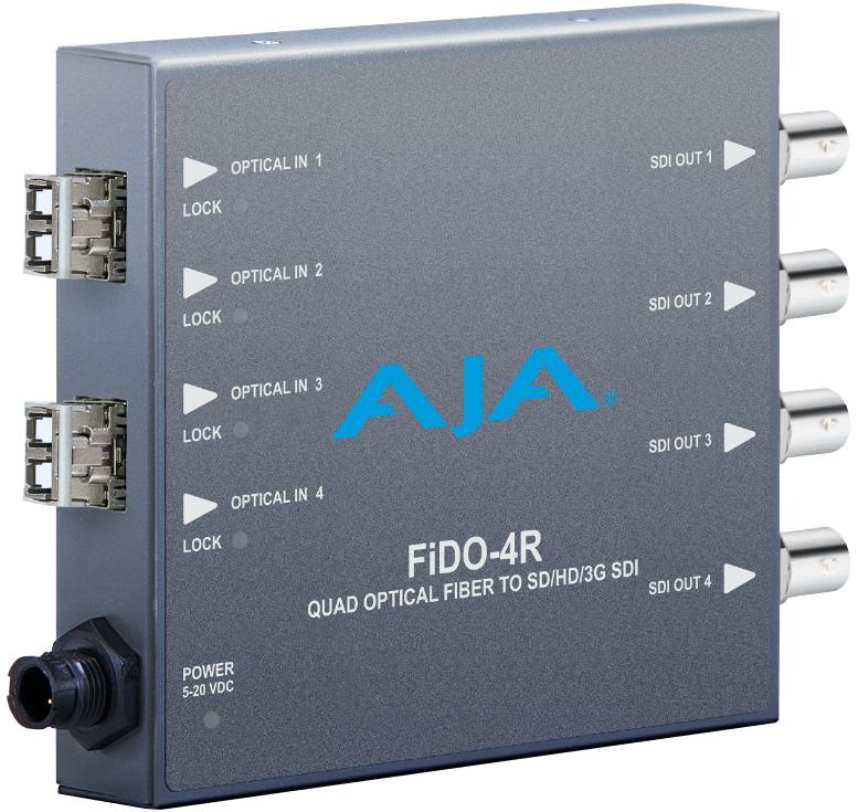 Quad Channel LC Fiber to SDI Converter, Multi-Mode or CDWM SFP