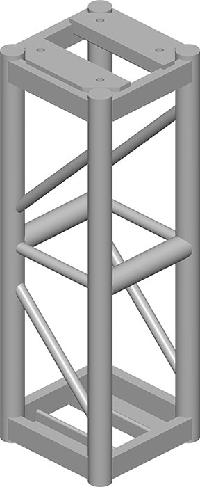 12x12 Square Truss,  3 ft Long