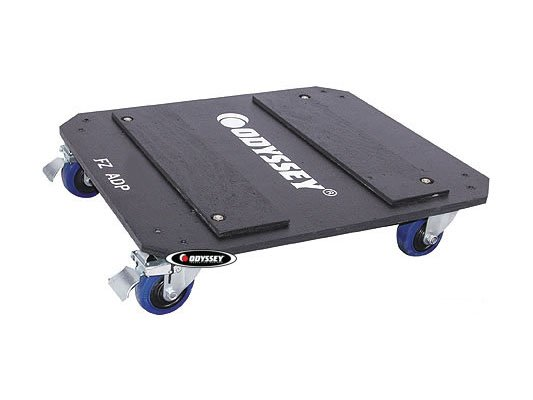 """Flight Zone Series Dolly Plate with 3.5"""" Swivel Casters, for FZAR Series Amp Racks"""